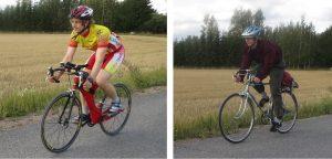 Pyöräily erilaisin varustein antaa samat tulokset